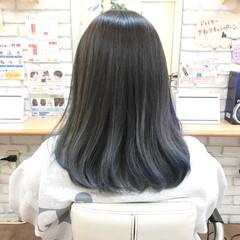 透明感カラー デザインカラー バレイヤージュ モード ヘアスタイルや髪型の写真・画像