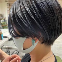ショート モード インナーカラー ヘアスタイルや髪型の写真・画像