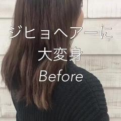 ミニボブ 3Dハイライト グレー ボブ ヘアスタイルや髪型の写真・画像