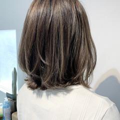 コントラストハイライト 3Dハイライト ナチュラル ボブ ヘアスタイルや髪型の写真・画像