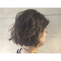 アッシュ 外国人風 ボブ ハイライト ヘアスタイルや髪型の写真・画像