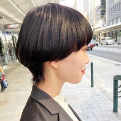黒髪 ウルフカット マッシュウルフ ミディアム ヘアスタイルや髪型の写真・画像