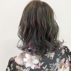 ハイライト ウェーブ 冬 ゆるふわ ヘアスタイルや髪型の写真・画像
