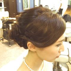 編み込み 大人女子 パーティ ヘアアレンジ ヘアスタイルや髪型の写真・画像