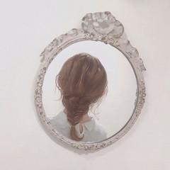 無造作 ヘアアレンジ フェミニン セミロング ヘアスタイルや髪型の写真・画像