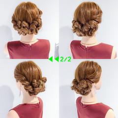 デート 結婚式 簡単ヘアアレンジ アウトドア ヘアスタイルや髪型の写真・画像