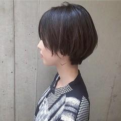 ショート ショートボブ 簡単ヘアアレンジ 抜け感 ヘアスタイルや髪型の写真・画像