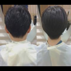 メンズショート ナチュラル ショート メンズカット ヘアスタイルや髪型の写真・画像