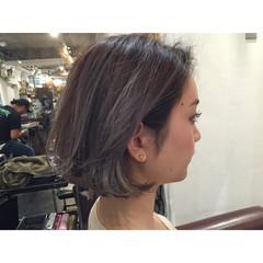 透明感 グラデーションカラー 切りっぱなし ストリート ヘアスタイルや髪型の写真・画像