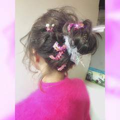 ヘアアレンジ 成人式 簡単ヘアアレンジ フェミニン ヘアスタイルや髪型の写真・画像
