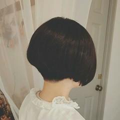 大人かわいい 黒髪 秋 ショート ヘアスタイルや髪型の写真・画像