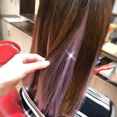 ロング ストリート ハイライト 大人可愛い ヘアスタイルや髪型の写真・画像