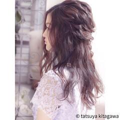 結婚式 ロング フェミニン リラックス ヘアスタイルや髪型の写真・画像