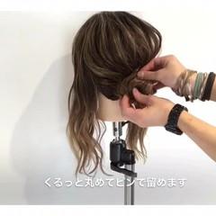 ルーズ 女子会 簡単ヘアアレンジ フェミニン ヘアスタイルや髪型の写真・画像