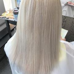 外国人風 ハイトーン セミロング ストリート ヘアスタイルや髪型の写真・画像