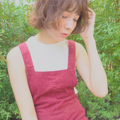 外国人風 ゆるふわ ショートボブ くせ毛風 ヘアスタイルや髪型の写真・画像