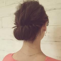 結婚式 大人かわいい セミロング 簡単ヘアアレンジ ヘアスタイルや髪型の写真・画像