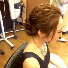 ゆるふわ ヘアアレンジ ミディアム ウェーブ ヘアスタイルや髪型の写真・画像