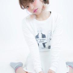 ショート 外国人風 ハイトーン ヘアアレンジ ヘアスタイルや髪型の写真・画像