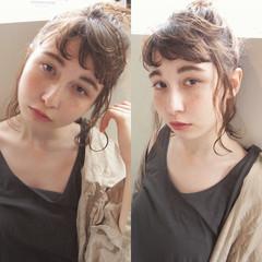 ゆるふわ 外国人風 ストリート 簡単ヘアアレンジ ヘアスタイルや髪型の写真・画像