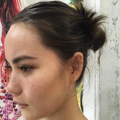 ナチュラル ヘアアレンジ くせ毛風 パーマ ヘアスタイルや髪型の写真・画像
