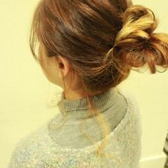 ショート ゆるふわ グラデーションカラー 簡単ヘアアレンジ ヘアスタイルや髪型の写真・画像