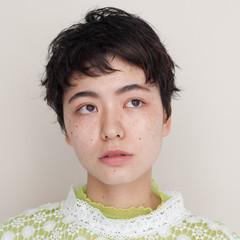 ハンサムショート ナチュラル ショート 黒髪ショート ヘアスタイルや髪型の写真・画像