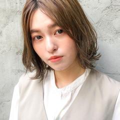 モテ髪 アンニュイほつれヘア デジタルパーマ ミディアム ヘアスタイルや髪型の写真・画像
