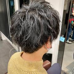 メンズショート メンズマッシュ メンズカット メンズパーマ ヘアスタイルや髪型の写真・画像