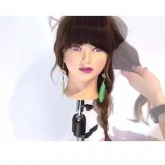 簡単ヘアアレンジ 夏 デート ロング ヘアスタイルや髪型の写真・画像