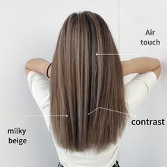 透明感 ナチュラル ロング グラデーション ヘアスタイルや髪型の写真・画像