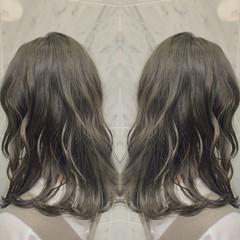 ナチュラル セミロング 大人可愛い オーガニックカラー ヘアスタイルや髪型の写真・画像