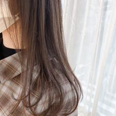 艶髪 ナチュラル ヌーディベージュ ロング ヘアスタイルや髪型の写真・画像