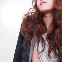 暗髪 うざバング ゆるふわ ロング ヘアスタイルや髪型の写真・画像