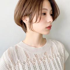 ミルクティーグレージュ ゆるふわパーマ ショコラブラウン オルチャン ヘアスタイルや髪型の写真・画像
