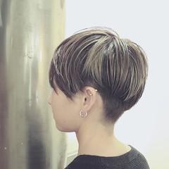 バレイヤージュ ストリート アッシュ ハイライト ヘアスタイルや髪型の写真・画像
