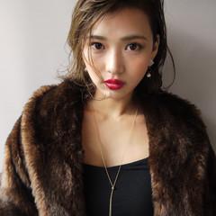 ミディアム 上品 エレガント 色気 ヘアスタイルや髪型の写真・画像