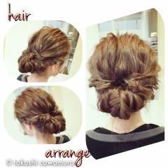 二次会 結婚式 ヘアアレンジ コンサバ ヘアスタイルや髪型の写真・画像