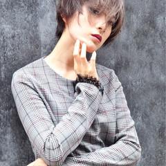 外国人風 グレージュ ハイライト 透明感 ヘアスタイルや髪型の写真・画像