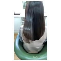 美髪 ナチュラル 暗髪 ロング ヘアスタイルや髪型の写真・画像