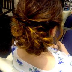 ロング 編み込み ゆるふわ 結婚式 ヘアスタイルや髪型の写真・画像