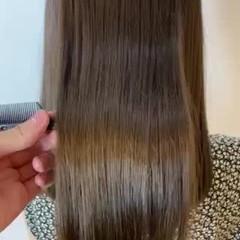 ロング 髪質改善カラー ナチュラル 髪質改善 ヘアスタイルや髪型の写真・画像