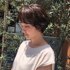 フェミニン ショート パーマ ミニボブ ヘアスタイルや髪型の写真・画像