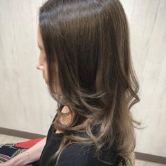 ナチュラル ロング グラデーションカラー 外国人風フェミニン ヘアスタイルや髪型の写真・画像