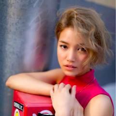 ショート ヘアアレンジ 大人かわいい ストリート ヘアスタイルや髪型の写真・画像