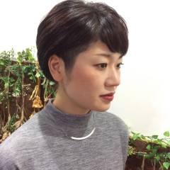 大人かわいい ストリート ショート 黒髪 ヘアスタイルや髪型の写真・画像