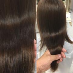 ニュアンス ミルクティー 小顔 ロング ヘアスタイルや髪型の写真・画像