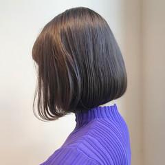 ショートボブ グレージュ 透明感カラー ボブ ヘアスタイルや髪型の写真・画像
