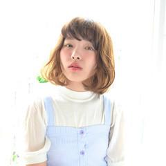 ピュア パーマ ナチュラル ラフ ヘアスタイルや髪型の写真・画像
