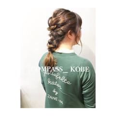 ベージュ ナチュラル イノセントカラー ヘアアレンジ ヘアスタイルや髪型の写真・画像